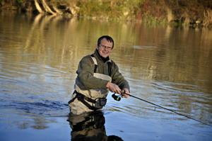 Manu Bizel, guide de pêche