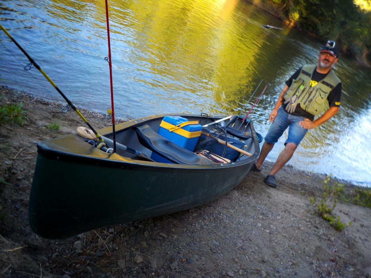 Départ en canoë
