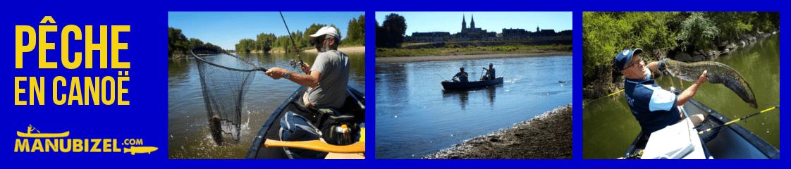 Moniteur guide de pêche en canoë