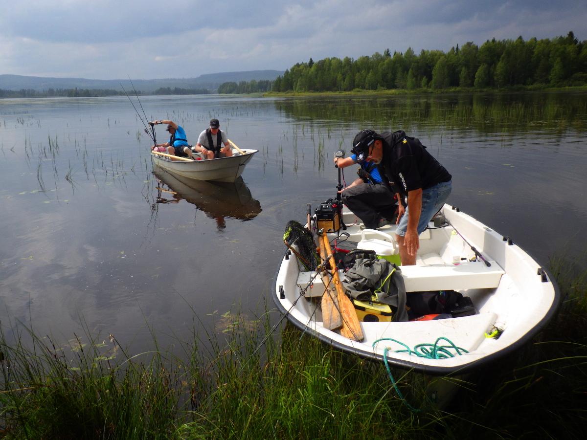 Séjour de pêche en Suède, les bateaux