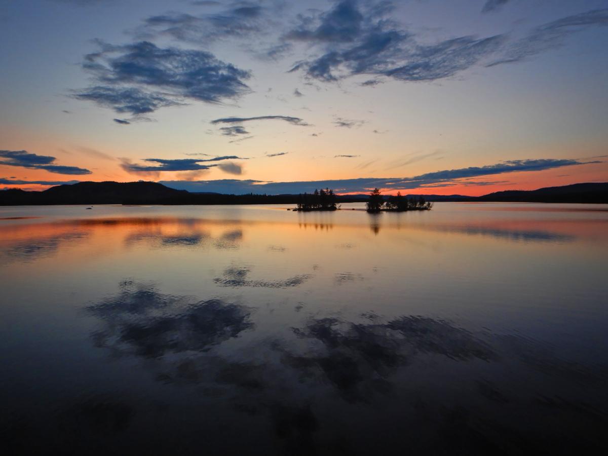 Séjour de pêche en Suède, soleil de minuit