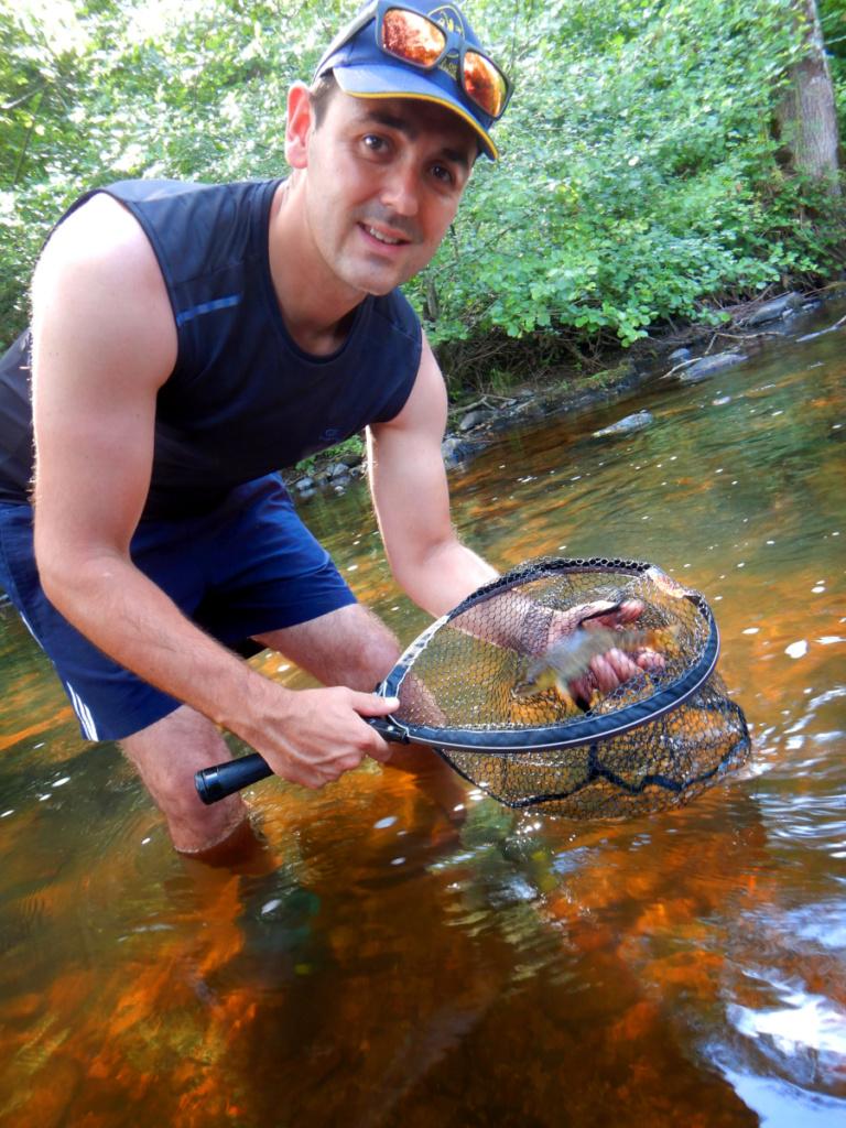 Initiation pêche à la mouche sur la Besbre