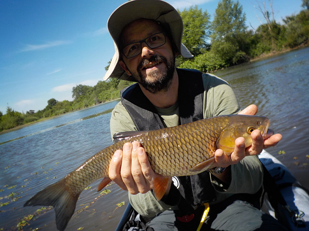 Pêche à la mouche en canoë