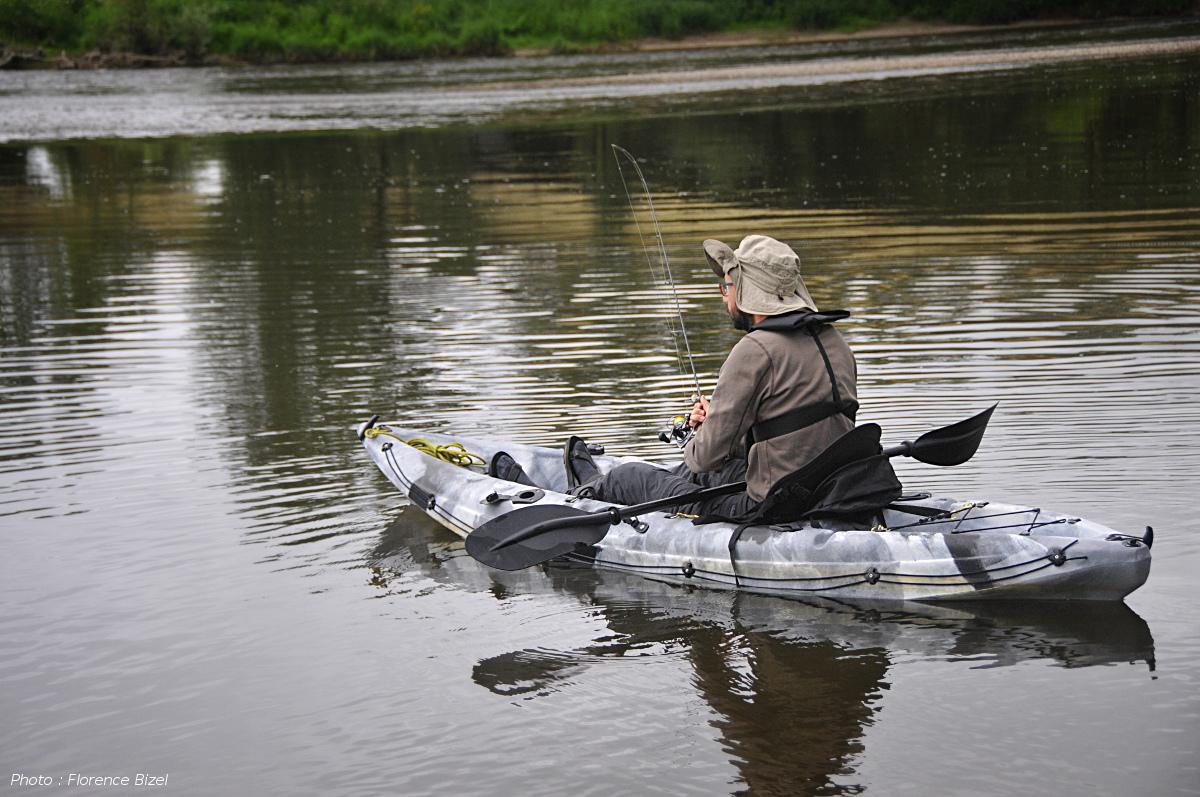 Pêche ne kayak sur l'Allier